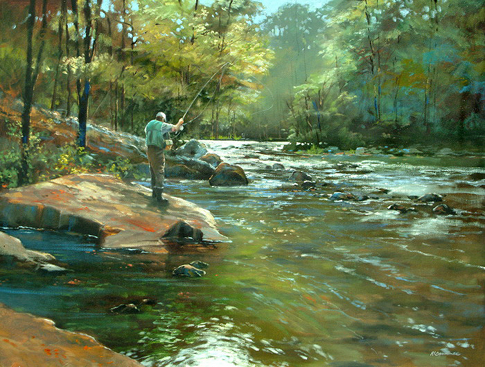 Fly Fishing 30x40