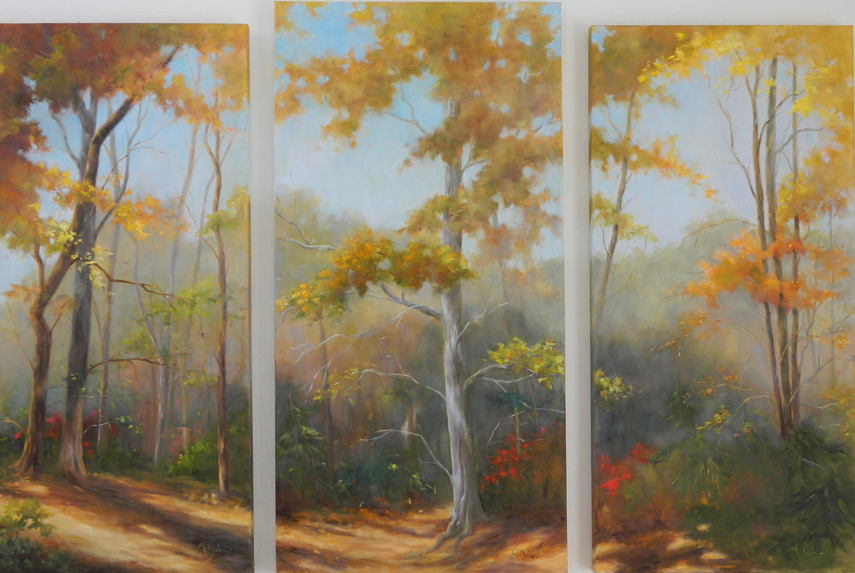 Smoky-Mountain-Colors.-Gallery-Wrap.-Tryptich-overall-size-48x68-$7500